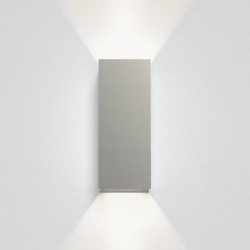 Kinzo 260 Matt Nickel Wall LED Lamp for Up/Down Lighting 15.1W 2700K IP20 rated Dimmable Astro 1398015