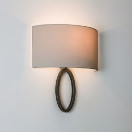 Lima Wall Lamp in Bronze IP20 E27/ES LED 12W using Semi Drum 320 Shade (not included) Astro 1318009