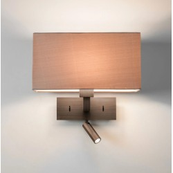 Park Lane Reader LED Wall Light in Bronze IP20 LED E27/ES Switched (no shade) Astro 1080051