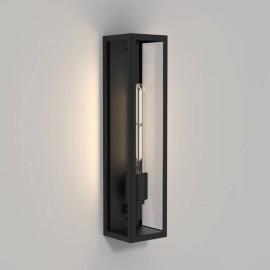 Harvard Matt Black Rectangular Wall Lamp IP44 using 1 x E27 max. 4W LED Lamp, Astro 1402010