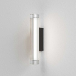io 420 LED Bathroom Wall Light in Matt Black with Glass Diffuser 6.5W LED 3000K Dimmable IP44 Astro 1409005