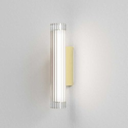 io 420 LED Bathroom Wall Light in Matt Gold with Glass Diffuser 6.5W LED 3000K Dimmable IP44 Astro 1409006