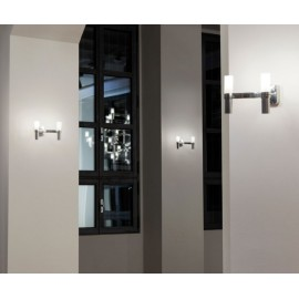 Nemo Crown 2 Wall Light in Satin Gold and White Glass Diffusers, Design Jehs + Laub