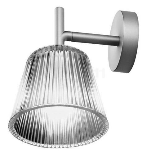 Flos Romeo Babe W Wall Light with Pressed Glass Shade design Philippe Starck, Flos F6260000A