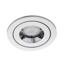IP65 Chrome Fixed Shower Round Downlight Fire Rated with 85mm Cutout GU10 iCage Mini