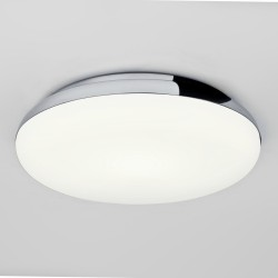 Altea Round Bathroom Ceiling Flush Light in Polished Chrome with White Glass Diffuser E27 IP44 Astro 1133002
