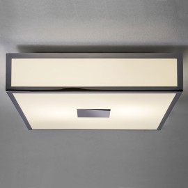 Mashiko 300 Classic Square Bathroom Light in Polished Chrome for Wall / Ceiling IP44 E27 60W Dimmable, Astro 1121005