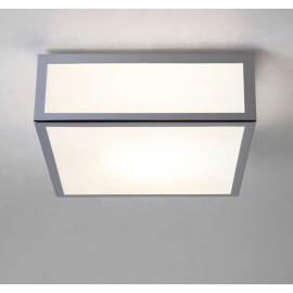 Mashiko 200 Square Bathroom Light in Polished Chrome and White Diffuser IP44 for Wall/Ceiling E27 Astro 1121009