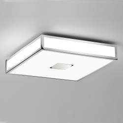 Mashiko 400 Square Bathroom Light in Polished Chrome IP44 4 x E27/ES Dimmable for Wall / Ceiling Astro 1121010