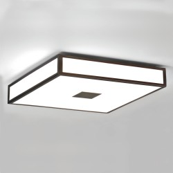 Mashiko 400 Square Bathroom Light in Bronze IP44 4 x 12W max. E27/ES LED Dimmable for Wall / Ceiling Astro 1121013