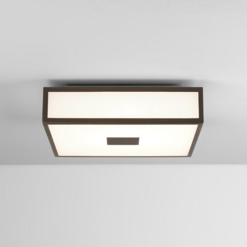 Mashiko 300 Square LED Bathroom Light in Bronze for Ceiling Lighting IP44 16.3W 2700K LED, Astro 1121062