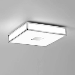 Mashiko 400 Square LED Bathroom Light in Polished Chrome IP44 27.4W 3000K LED for Ceiling Lighting Astro 1121067