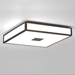 Mashiko 400 Square LED Bathroom Light in Bronze IP44 rated 27.4W 3000K LED for Ceiling Lighting Astro 1121069