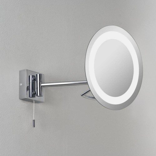 Gena Bathroom Mirror Wall Light 3x Magnify Polished Chrome IP44 Switched with Adjustable Arm using 3W max. LED G9, Astro 1097001