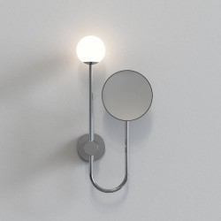Orb Bathroom Wall Light with 5x Round Mirror in Polished Chrome using 3W max. LED G9 IP44, Astro 1424001