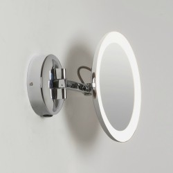 Mascali Round LED Vanity Mirror Light in Polished Chrome 2700K 5.3W IP44 Magnifying Mirror Astro 1373001