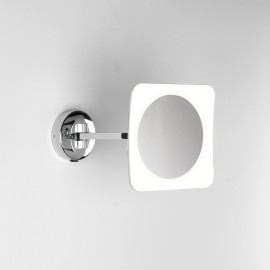 Mascali Square LED Mirror Light in Polished Chrome IP44 6.1W 2700K x5 magnification Switched Astro 1373003