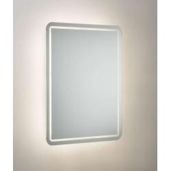 IP44 19W 600 x 450mm Backlit LED Bathroom Mirror with Demister, Shaver Socket and Motion Sensor Knightsbridge MLR6045SD