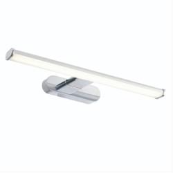 Moda Bathroom LED Over-Mirror Wall Light IP44 8W 6500K Daylight White 600lm Chrome Effect, Saxby Lighting 91802
