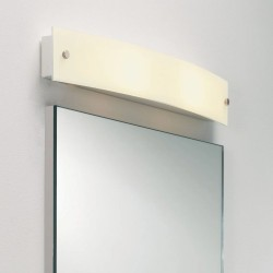 Curve Bathroom Wall Light Frosted Glass Switched 2 x 7W LED Candle E14 for Above Mirror Lighting, Astro 1010001