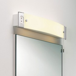 Bathroom Shaver Light in Polished Chrome with Pull Cord Switch IP20 using 2 x E14/SES Lamps, Astro 1022001