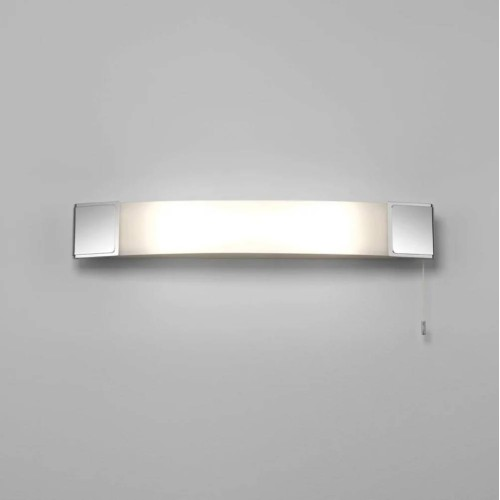 Anja Shaver Light in Polished Chrome with Pull Cord Switch IP20 using 2 x 7W Max LED Candle E14/SES, Astro 1109001