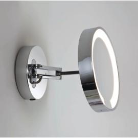 Catena Illuminated Round Polished Chrome Bathroom Mirror Adjustable Arm x5 Magnification 22W T5, Astro 1137001