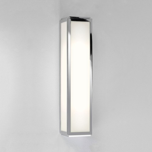 Mashiko 360 Classic Bathroom Wall Light IP44 in Polished Chrome with White Diffuser 2 x E14 40W, Astro 1121006