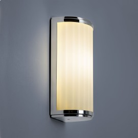 Monza Classic 250 IP44 Bathroom Wall Light in Polished Chrome and White Opal Glass Diffuser 20W E27/ES Astro 1194003