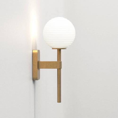 Tacoma Single Antique Brass Bathroom Wall Lamp (no Shade) 1 x 3W Max LED G9 IP44 rated, Astro 1429007