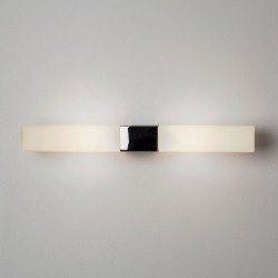 Padova Square Bathroom Wall Light in Polished Chrome with Opal Glass Diffusers IP44, Astro 1143004