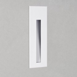 Borgo 43 Recessed Wall LED Light IP65 in Matt White 1W 14lm 3000K Dimmable Astro 1212017
