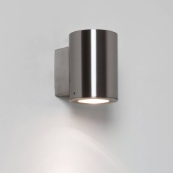 Detroit Single Wall Light in Brushed Stainless Steel IP44 GU10 max. 35W for Down-lighting, Astro 1059006