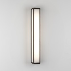 Mashiko 600 LED Bathroom Wall Light 10.6W 3000K IP44 Bronze with Frosted Diffuser, Astro 1121058