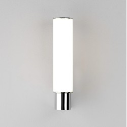 Kyoto LED Bathroom Wall Light IP44 8.8W 2700K in Polished Chrome and Frosted Tube Diffuser, Astro 1060006