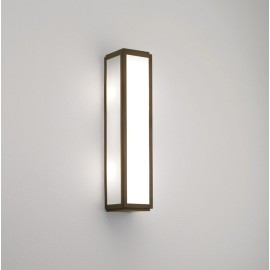 Mashiko 360 Classic Bathroom Wall Light IP44 in Bronze and White Diffuser 2 x 7W max Candle E14/SES, Astro 1121055