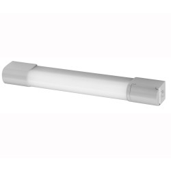 IP44 10W 3000K LED Light in White with Dual Voltage Shaver Socket, Switched Bathroom Wall Light