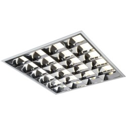4 x 18W T8 CAT2 Surface Mounted Modular Fluorescent Fitting Square Fixture 610 x 610 x 75mm