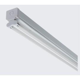 2 x 28W 4ft 1175mm Fluorescent Twin T5 Batten Light Fitting IP20 in White (no batten)
