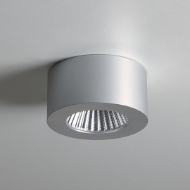 Samos Round Undershelf Surf 5W LED Light in Anodised Aluminium, LED Cabinet Light