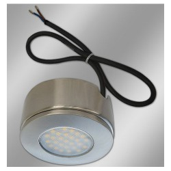 1.5W 3000K 95lm Round LED Surface / Recessed Cabinet Undershelf Downlight with 2m cable