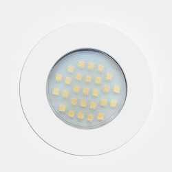 1.7W White Round LED Surface / Recessed Cabinet Downlight 3000K 160lm 240V with 2m Cable