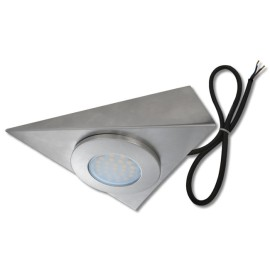 1.5W 3000K 95lm LED Triangle Cabinet Light Pre-wired with 2m Cable (no driver required)