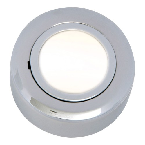 12V 20W Round Under Cabinet Light Fitting in Chrome with GX5.3 10W/20W Lamps Included