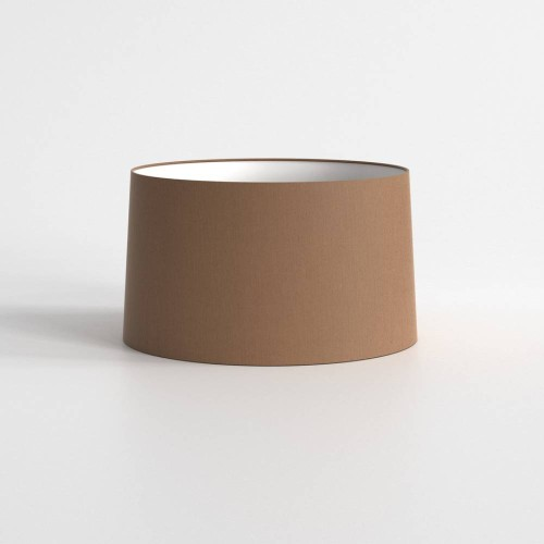 Tapered Round 440 Mocha Fabric Shade with E27/ES Shade Ring for Azumi or Telegraph Floor Lamps, Astro 5035012