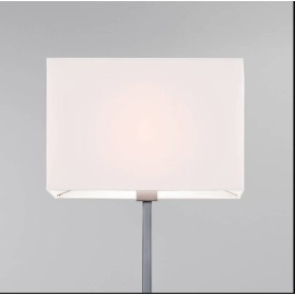 Rectangle 400 White Fabric Shade 265 x 400 x 225mm with E27/ES ring for Park Lane Floor Lamps, Astro 5001002