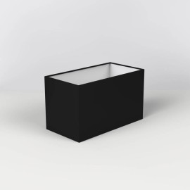 Rectangle 250 Black Fabric Shade 125mm x 250mm Rectangular with E14/SES Shade Ring, Astro 5001006
