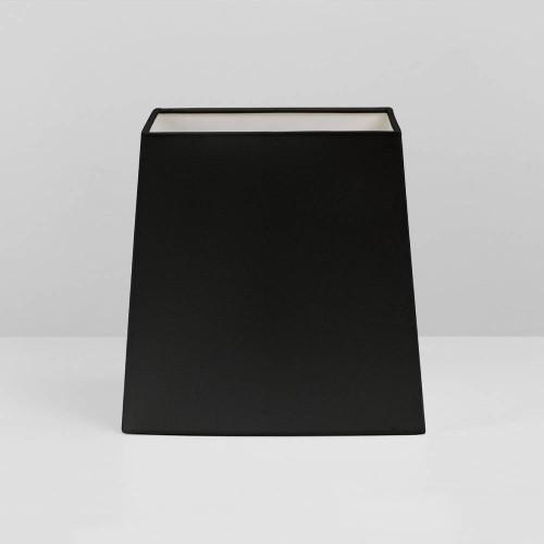 Tapered Square 175 Black Fabric Shade with E27/ES Shade Ring and E14 Reducer, Azumi / Lambro Astro 5005002