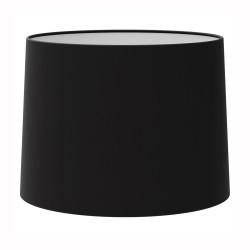 Azumi / Momo Tapered Round 215 Black Fabric Shade 145mm x 215mm Dia with E27/ES Shade Ring, Astro 5006002