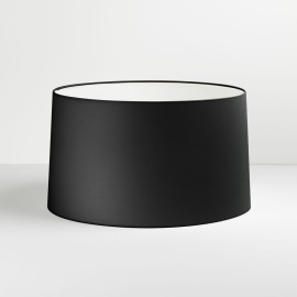 Tapered Round 440 Black Fabric Shade with E27/ES Shade Ring for Azumi/Telegraph Floor Lamps, Astro 5009004